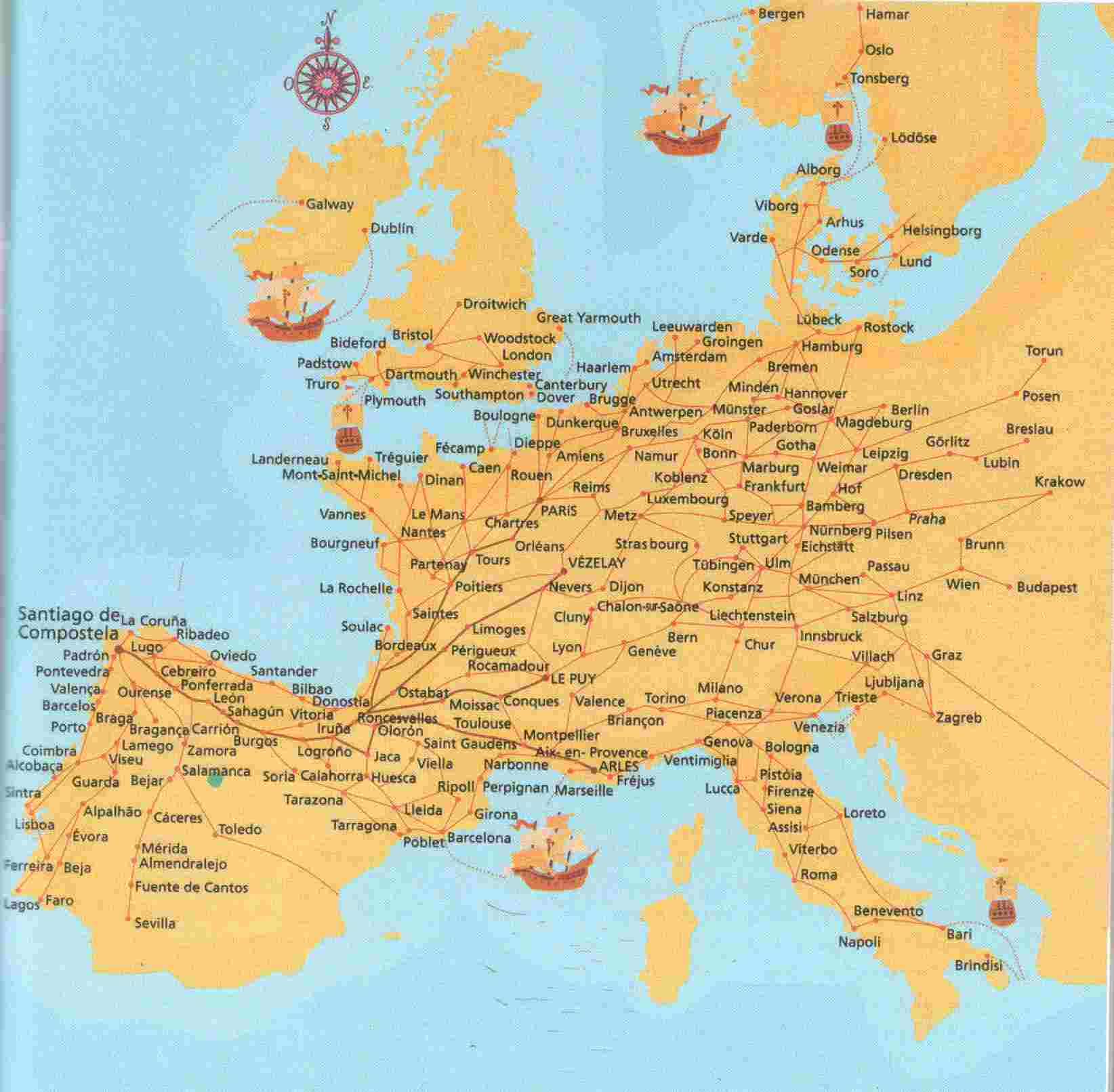 Jakobsweg Karte Deutschland.Jakobswege Im Marburger Land